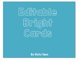 Editable Bright Cards