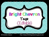 {Editable} Bright Chevron Labels or Tags
