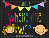 Editable Bright Chevron Where Are We Posters