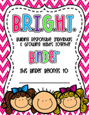 Editable Bright Communication Binder
