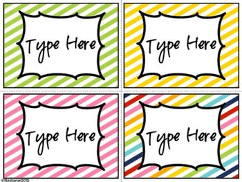 Editable Labels-Bright Diagonal  Labels