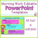 Morning Message Slides (Bright Kids)