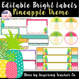 Editable Bright Pineapple labels