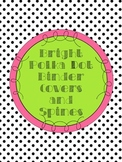 Editable Bright Polka Dot Binder Covers and Spines