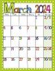 Editable FREE Bright Polka Dot Monthly Calendars 2017-2018