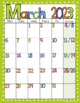 Editable FREE Bright Polka Dot Monthly Calendars 2018-2019