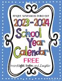 Editable FREE Bright Polka Dot Monthly Calendars 2020-2021