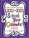 Editable FREE Bright Polka Dot Monthly Calendars 2021-2022
