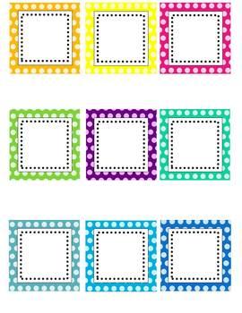 Editable Polka Dot Labels (clip art images)