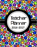 Editable Teaching Survival Binder: Bright Polka Dot PLUS S
