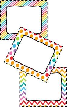 Editable Bright Rainbow Labels