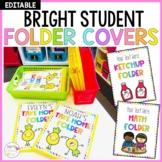 Editable Bright Student Folder Covers