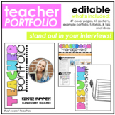 Editable Bright Teacher Portfolio | Example Portfolio & Tutorials