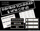 Editable Brightly Colored Schedule Cards