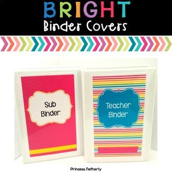 Editable Brights Binder Covers