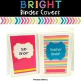 Editable Brights Binder Covers