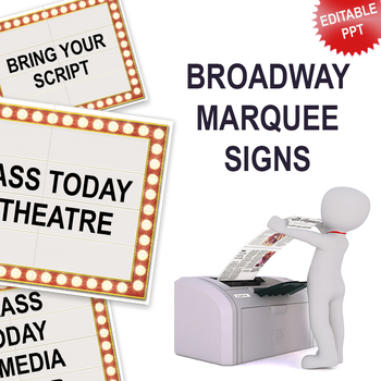 Editable Broadway Marquee Sign