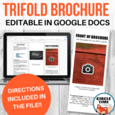Editable Brochure Template for Google Docs - Trifold - Instructions Included!