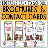 Back to School Brochures / Pamphlets & Contact Cards BUNDLE - Editable