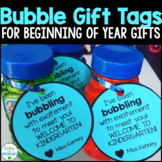 Editable Bubble Gift Tags for Beginning of the Year