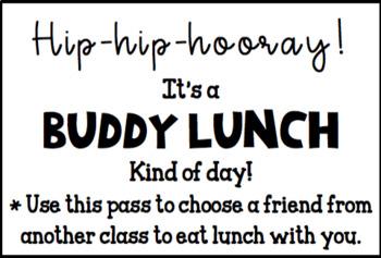 Editable Buddy Lunch Pass