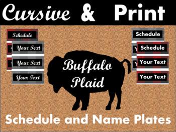 Buffalo Plaid Schedule and Nameplates