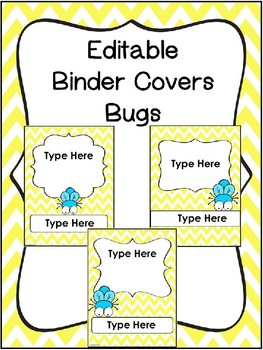 Editable Bug Binder Covers