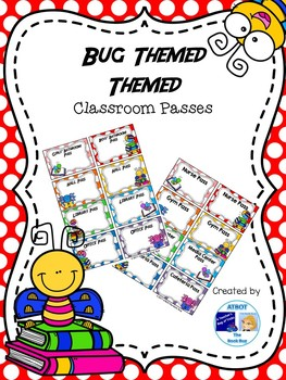 Editable Bug Themed Classroom Passes