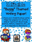 Editable Buggy Themed Blank Writing Paper!