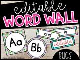 Editable Bugs Word Wall Headers and Word Cards - Bugs Classroom Theme