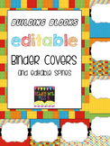 "Editable ""Building Blocks"" Binder Covers & Spines"