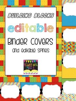 """Editable """"Building Blocks"""" Binder Covers & Spines"""