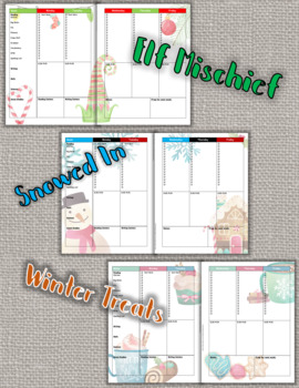 Editable Lesson Plan Template Seasonal Bullet List