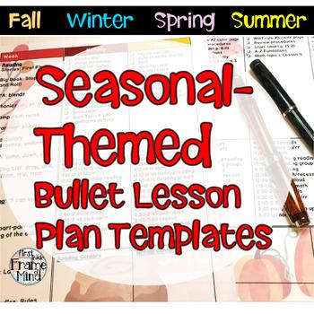 Editable Lesson Planning Template Seasonal Bullet List