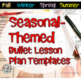 Editable Lesson Planning Template Seasonal Bullet List