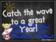Editable Bulletin Board Catch the Wave!