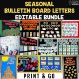 Editable Bulletin Board Letters BUNDLE - 12 Seasonal Theme