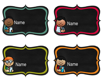 Editable Bulletin Board Name Tags/Labels