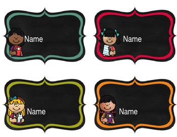 Editable Bulletin Board Name Tags/Labels
