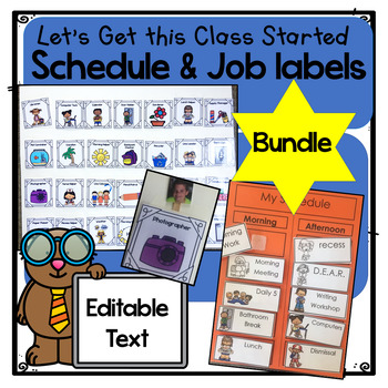 Editable Bundle - Classroom Job Labels and Classroom Schedule Cards