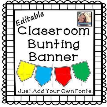 Editable Bunting Banner