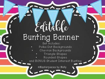 Editable Bunting Banners