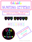 Editable Bunting Letters