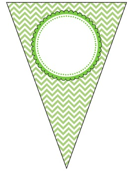 Chevron & Pastel Bunting / Pennant / Banners