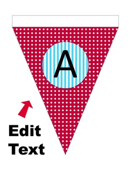 Editable Bunting