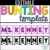 Editable Bunting Template - Any color, any font!
