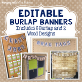 Editable Burlap and Shiplap Banners