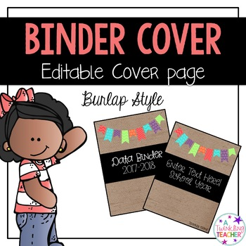 Editable Burlap Binder Covers!