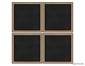 Editable Burlap & Chalkboard Labels {15 Different Labels} FREEBIE