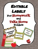 Editable Burlap Return to School/Leave at Home Labels for